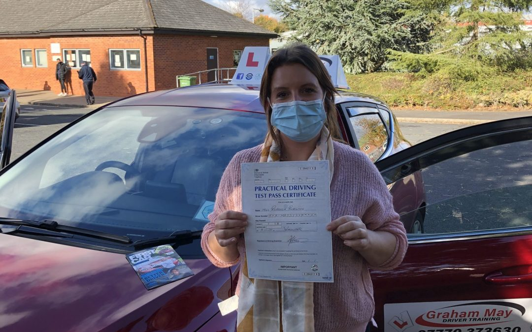 Well done Rebecca on passing your driving test